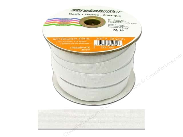 Stretchrite Knit Elastic 3/4 in. x 30 yd White (30 yards)