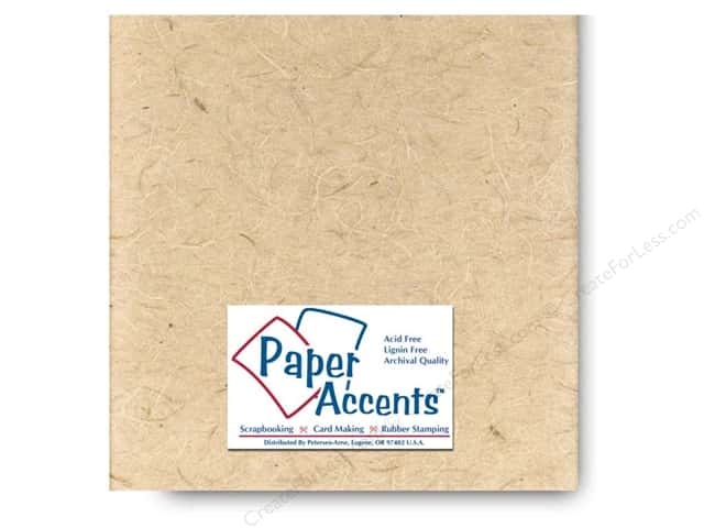 Mulberry Paper 12 x 12 in. Natural by Paper Accents (25 sheets)