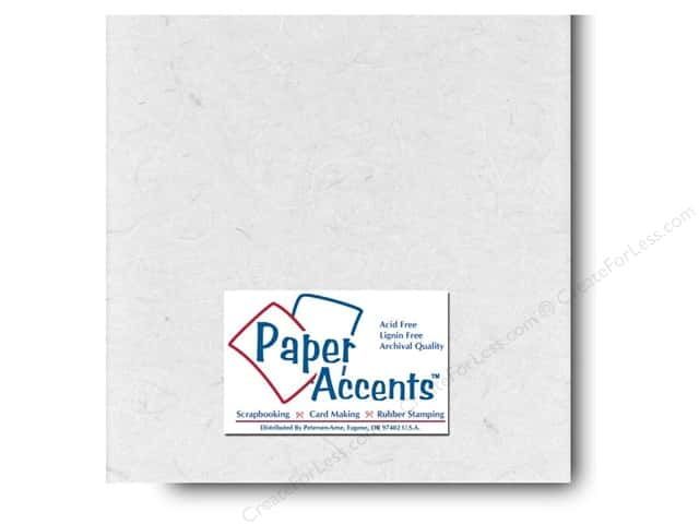 Mulberry Paper 12 x 12 in. White by Paper Accents (25 sheets)