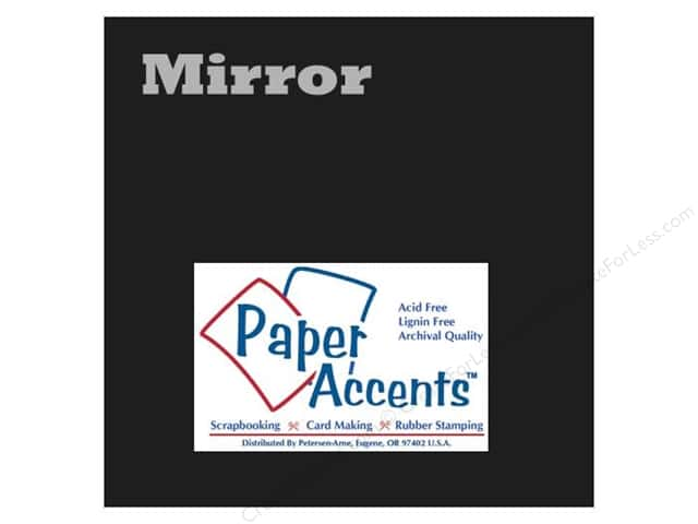 Cardstock 12 x 12 in. Mirror Black by Paper Accents (25 sheets)