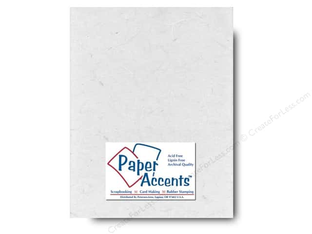Mulberry Paper 8 1/2 x 11 in. White by Paper Accents (25 sheets)