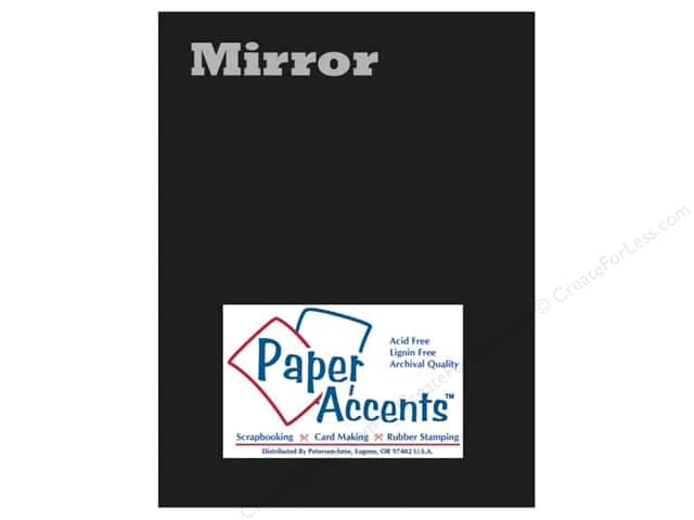 Cardstock 8 1/2 x 11 in. Mirror Black by Paper Accents (25 sheets)
