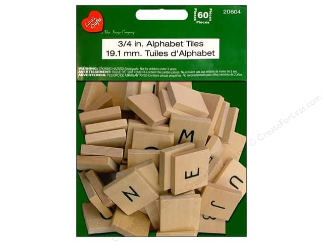 Lara's Wood Painted Alphabet Tiles 3/4 in. 60pc.