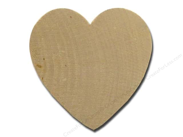 Lara's Wood Heart 2 1/2 in. Bulk Pack 25 pc.