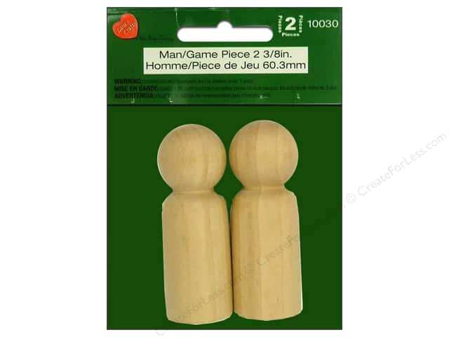 Lara's Wood Man / Game Piece 2 3/8 in. 2pc