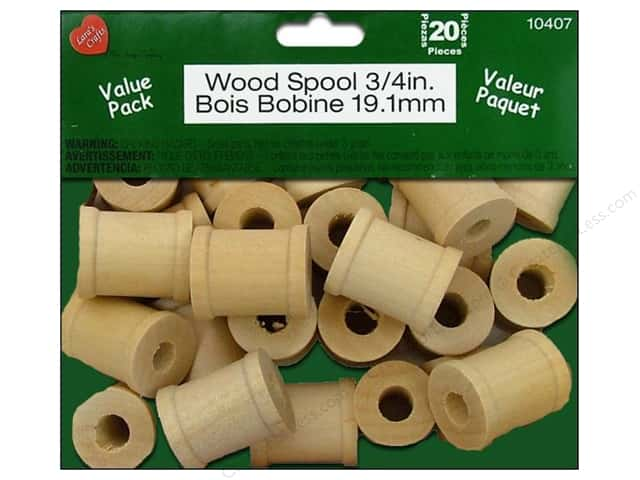 Lara's Wood Spool Value Pack 3/4 in. 20 pc.