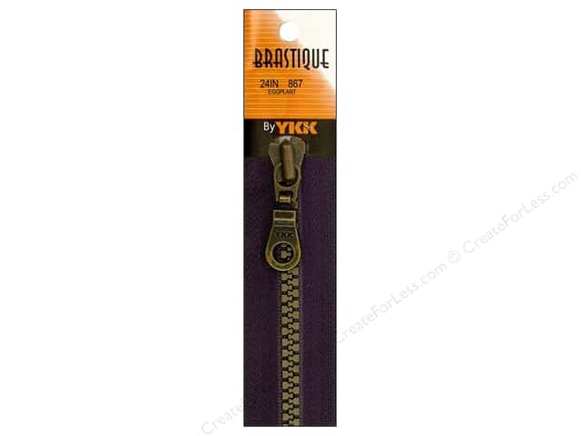 YKK Brastique 1-Way Separating Zipper 24 in. Eggplant