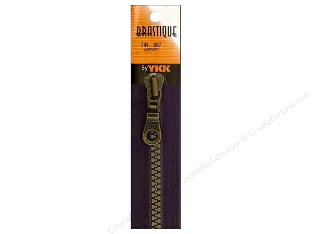 YKK Brastique Closed Bottom Zipper 7 in. Eggplant