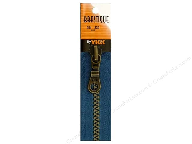 YKK Brastique Closed Bottom Zipper 9 in. Blue