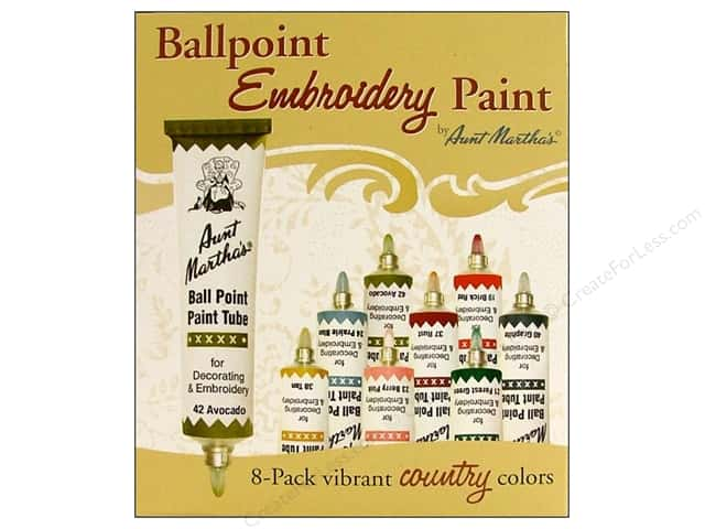 Aunt Martha's Ballpoint Paint Set 8 pc. Country