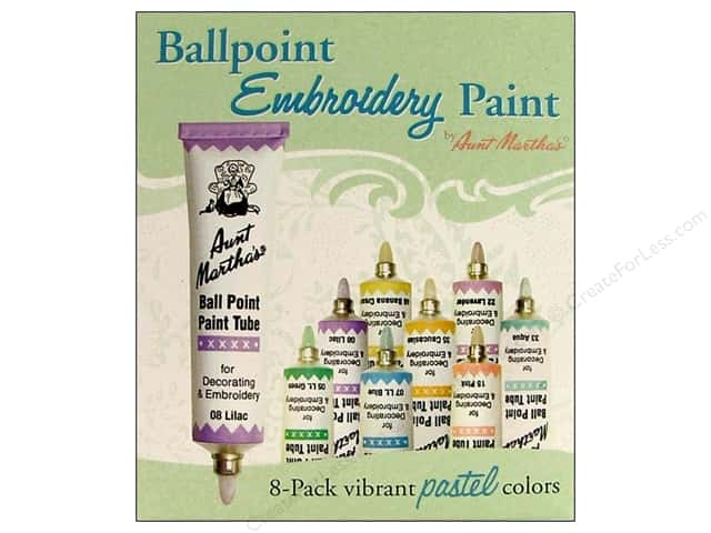 Aunt Martha's Ballpoint Paint Set 8 pc. Pastel