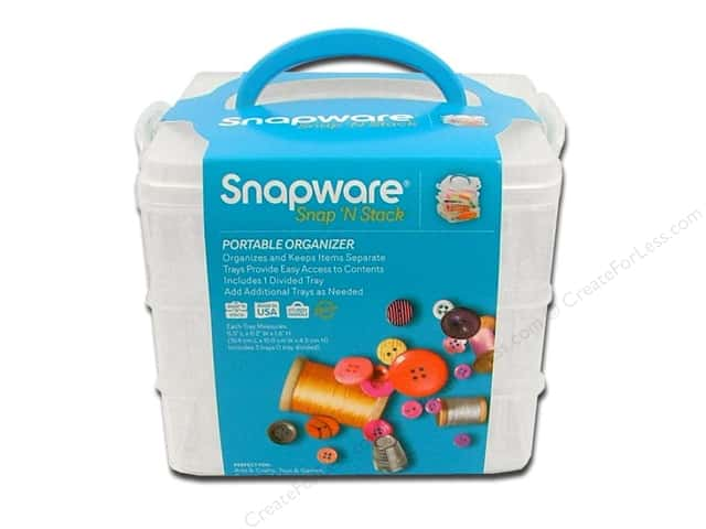 Snapware Snap 'N Stack Small Square 3 Layer 1 Divided