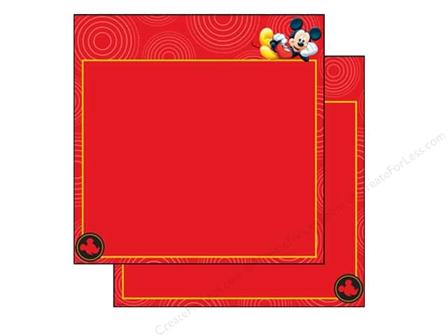 EK 12 x 12 in. Paper Disney Mickey Red Frame (25 sheets)