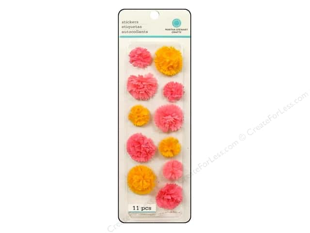 Martha Stewart Sticker Layered Pom Pom Pink