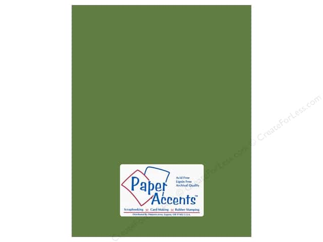 Paper Accents Cardstock 8 1/2 x 11 in. #18023 Smooth Guacamole (25 sheets)