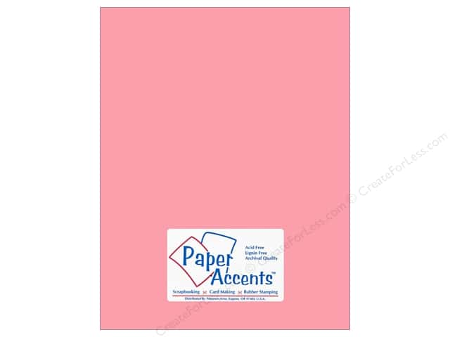 Paper Accents Cardstock 8 1/2 x 11 in. #18063 Smooth Tickled Pink (25 sheets)