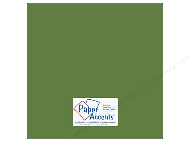Paper Accents Cardstock 12 x 12 in. #18023 Smooth Guacamole (25 sheets)