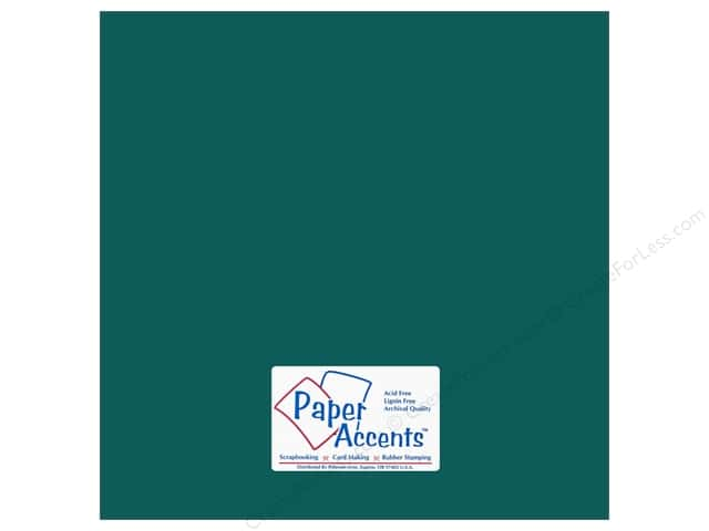 Paper Accents Cardstock 12 x 12 in. #18032 Smooth Blue Calypso (25 sheets)