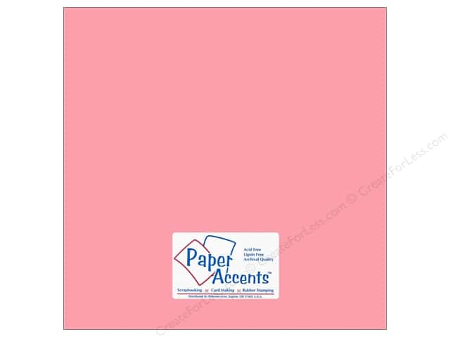 Paper Accents Cardstock 12 x 12 in. #18063 Smooth Tickled Pink (25 sheets)