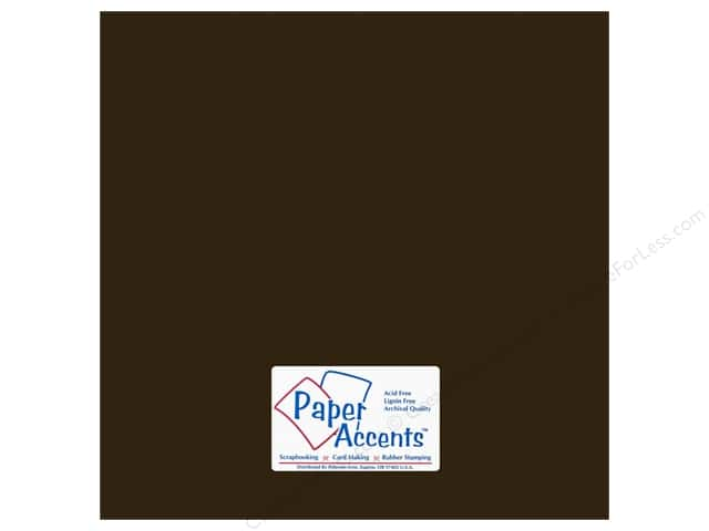 Paper Accents Cardstock 12 x 12 in. #18072 Smooth Bitter Chocolate (25 sheets)
