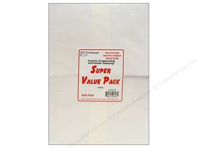 5 x 7 in. Envelopes by Paper Accents 250 pc. White