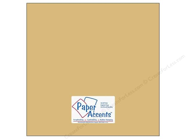 Cardstock 12 x 12 in. #8070 Smooth Quick Sand by Paper Accents (25 sheets)