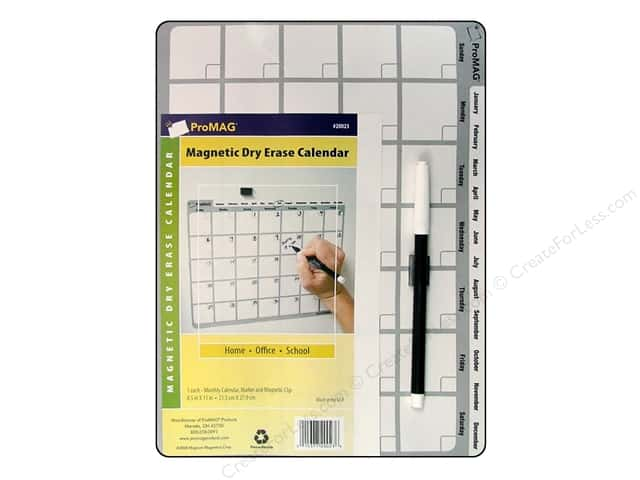 ProMag Magnetic Dry Erase Calendar 8 1/2 x 11 in.