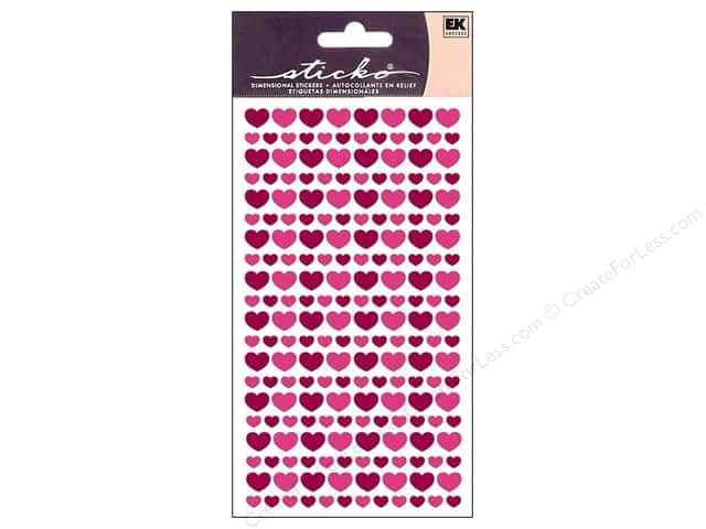 EK Sticko Stickers Glitter Hearts