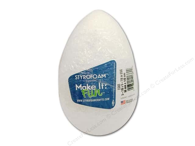 FloraCraft Styrofoam Egg 5 7/8 x 3 7/8 in. White 1 pc.