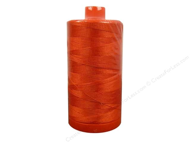 Aurifil Mako Cotton Quilting Thread 50 wt. #1154 Dusty Orange 1420 yd.