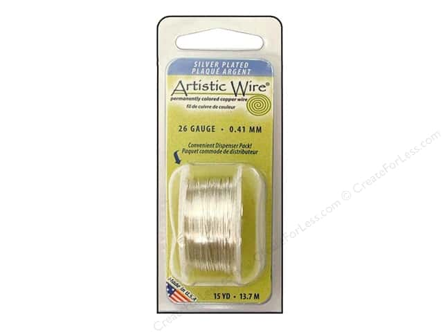 Artistic Wire 26 ga. Copper Wire 15 yd. Silver