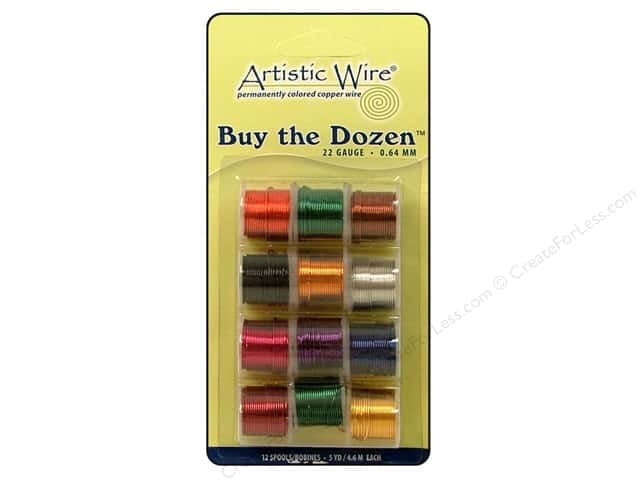Artistic Wire 22 ga. Copper Wire 5 yd. Assorted Colors Dozen