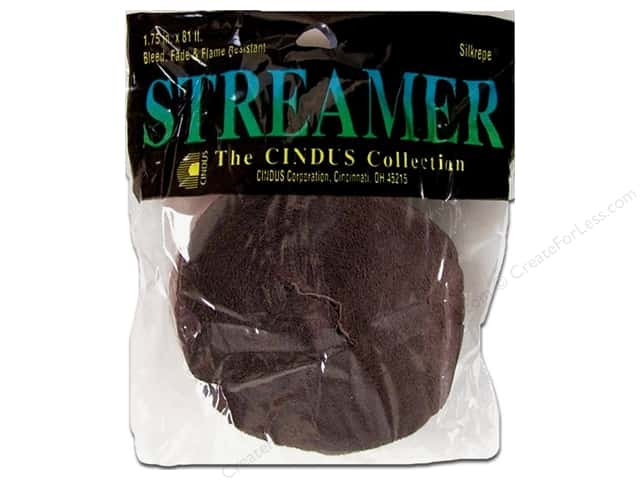 Crepe Paper Streamers by Cindus 1 3/4 in. x 81 ft. Brown