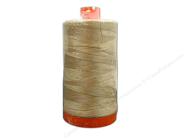 Aurifil Mako Cotton Quilting Thread 50 wt. Light Brass 1420 yd.