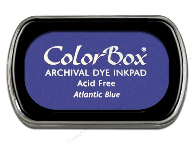 ColorBox Archival Dye Ink Pad Full Size Atlantic Blue