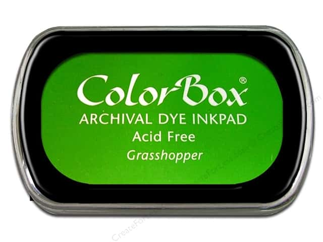 ColorBox Archival Dye Ink Pad Full Size Grasshopper