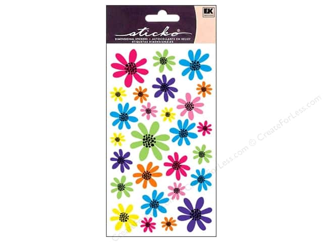 EK Sticko Stickers Doodle Daisies