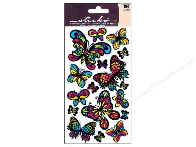 EK Sticko Stickers Stained Glass Butterfly