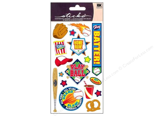 EK Sticko Stickers Play Ball