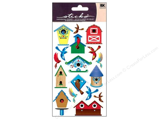 EK Sticko Stickers Birds and Bird Houses