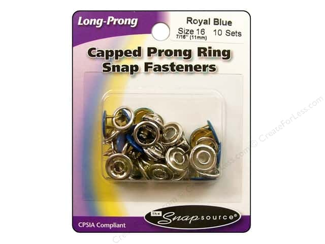 Snapsource Capped Prong Ring Snap Fasteners Size 16 Royal Blue