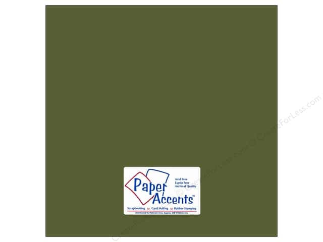 Cardstock 12 x 12 in. #82 Smooth Tarragon by Paper Accents (25 sheets)