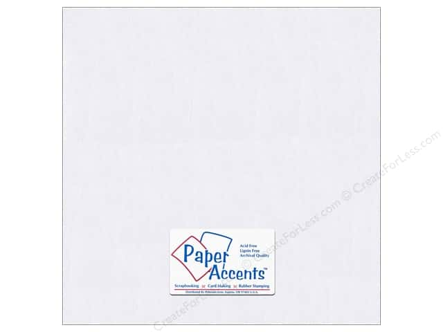 Paper Accents Cardstock 12 x 12 in. #8814C Pearlized Bright White (25 sheets)