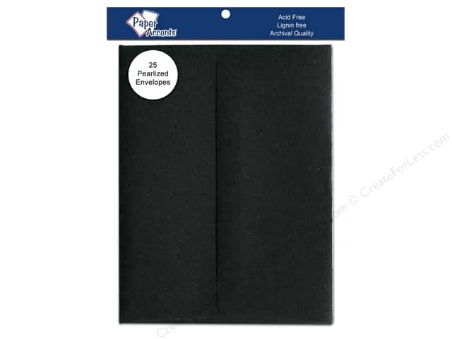 4 1/4 x 5 1/2 in. Envelopes by Paper Accents 25 pc. Pearlized Onyx