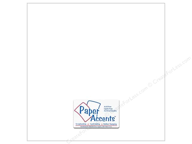 Cardstock 12 x 12 in. #8812 Chalkable White by Paper Accents (25 sheets)
