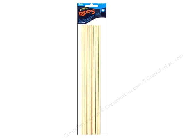 Darice Wood Dowels 12 x 1/4 in. 10 pc.