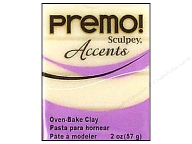 Premo! Sculpey Polymer Clay 2 oz. White Translucent