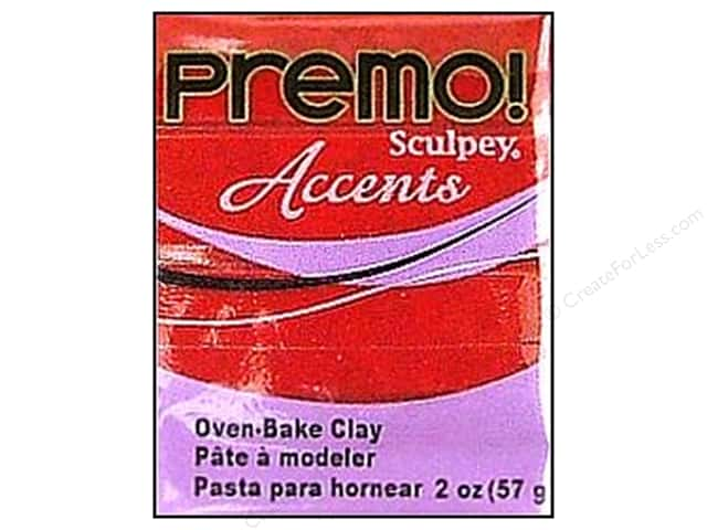 Premo! Sculpey Polymer Clay 2 oz. Red Glitter