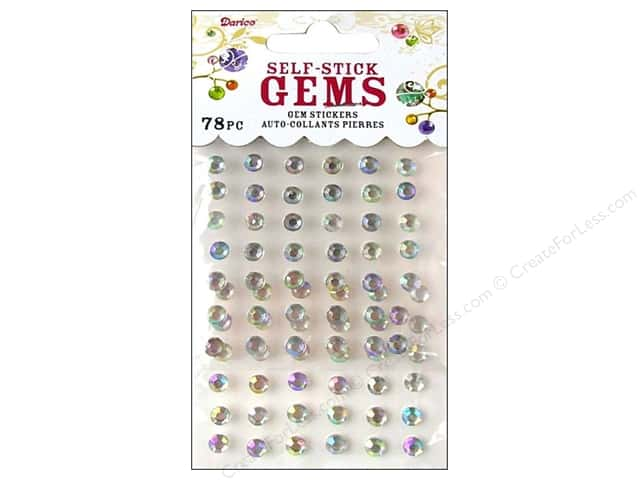 Darice Stick On Rhinestones - 5 mm Round 78 pc. Crystal Aurora Borealis