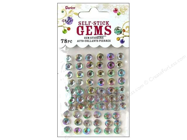 Darice Stick On Rhinestones - 7 mm Round 78 pc. Crystal Aurora Borealis